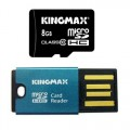 Card memorie Kingmax KM08GMCSDHC10CR Micro SDHC 8GB, Class 10,  plus Card Reader