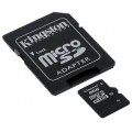 Card memorie Kingston SDC10-8GB Micro SDHC, 8GB, Class 10 si adaptor SD
