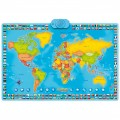 Harta interactiva a lumii, bilingv - limba romana, MomKi ZN0001