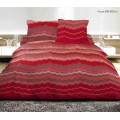 Lenjerie de pat Heinner formata din 4 piese, material bumbac 100%, model Fouta Red, HR-4BED-132-03
